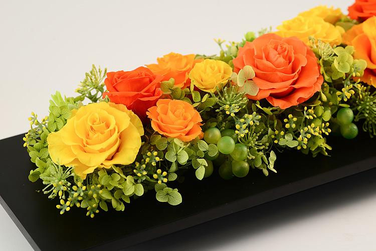 プリザーブドフラワー「ハーモニー(オレンジ)」の詳細その3