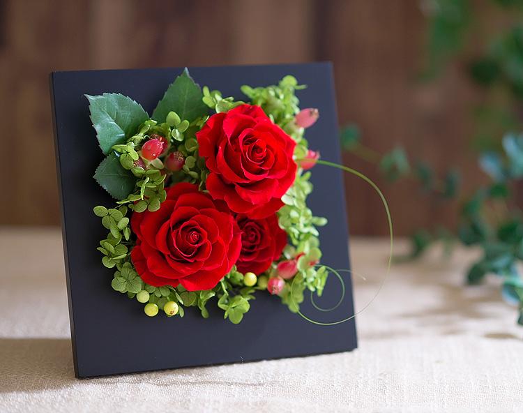 プリザーブドフラワー「ロマンティック 香り立つ高貴なバラ(プリザーブドフラワー・アレンジメント)」の詳細その2