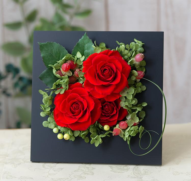 プリザーブドフラワー「ロマンティック 香り立つ高貴なバラ(プリザーブドフラワー・アレンジメント)」の詳細その3